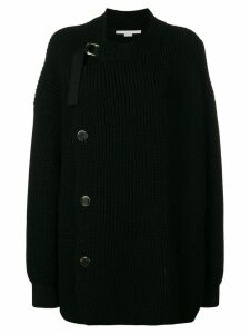 Stella McCartney crossover ribbed cardigan - Black