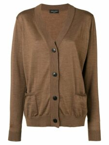 Roberto Collina V-neck button cardigan - Brown