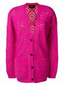 Rochas longline patterned cardigan - Pink