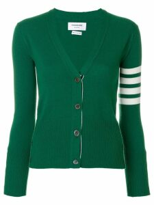 Thom Browne Classic 4-Bar Cashmere Cardigan - Green