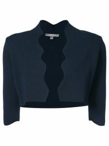 Lela Rose scalloped cardigan - Blue
