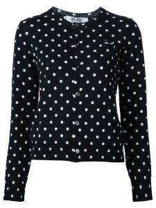 Comme Des Garçons Play polka dot cardigan - Black