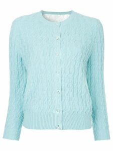 Onefifteen cable knit cardigan - Blue