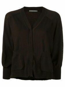 Alberta Ferretti cropped buttoned cardigan - Brown