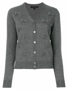 Marc Jacobs bow embroidered cardigan - Grey