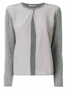 Max & Moi soft button cardigan - Grey