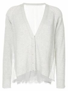 Onefifteen lace panel cardigan - Grey
