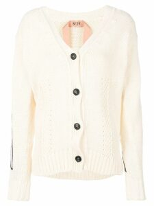 Nº21 v-neck cardigan - White