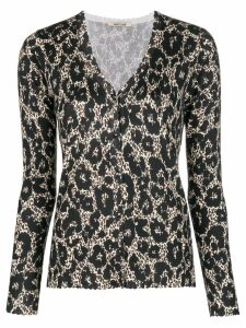 Roberto Cavalli animal print cardigan - Black