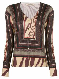 Roberto Cavalli patterned knit cardigan - Neutrals