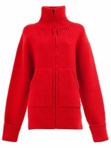 Maison Margiela oversized rib knit cardigan - Red