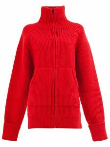 Maison Margiela oversized rib knit cardigan - Red