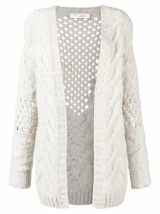 IRO chunky knitted cardigan - NEUTRALS