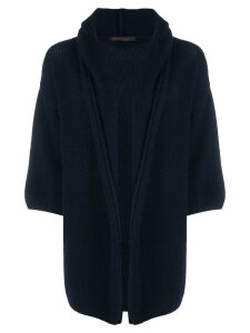 Incentive! Cashmere cashmere chunky cardigan - Blue