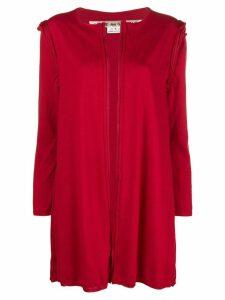 Comme Des Garçons raw seam long-line cardigan - Red