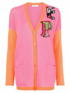 Emilio Pucci colour-block logo cardigan - Pink