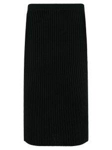 Victoria Victoria Beckham rib knit pencil skirt - Black