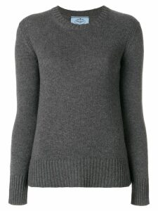 Prada crew neck jumper - Grey
