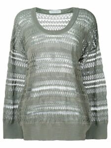 Christian Wijnants panelled oversized sweater - Grey