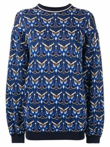 Chloé oversized owl knit sweater - Blue