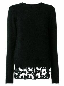 Comme Des Garçons Noir Kei Ninomiya round neck jumper - Black