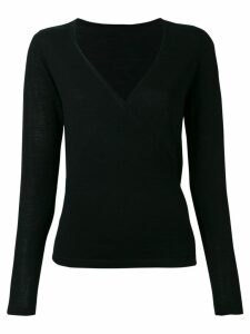 Sottomettimi wrap V-neck jumper - Black