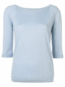 Sottomettimi boat neck jumper - Blue