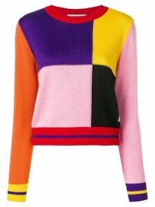 MSGM colour-block sweater - Multicolour
