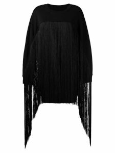 Mm6 Maison Margiela fringed oversized sweater - Black