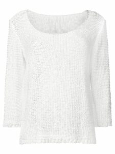 Charlott fine knit jumper - White