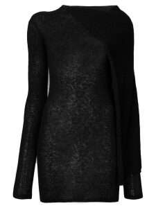 Rick Owens cape tunic jumper - Black