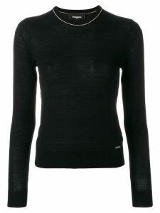 Dsquared2 contrast trim knitted jumper - Black