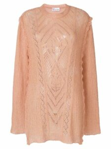 Red Valentino multi-knit longline sweater - PINK