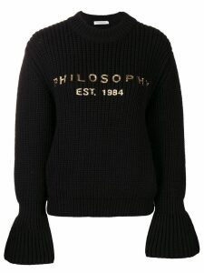 Philosophy Di Lorenzo Serafini flared sleeve jumper - Black
