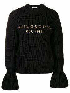 Philosophy Di Lorenzo Serafini flared sleeve jumper - Black