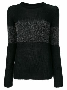 Cashmere In Love cashmere Vivien lurex stripe jumper - Black