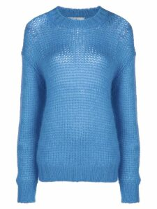 Prada dropped shoulder knit jumper - Blue