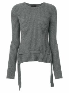 Cashmere In Love cashmere belted sweater - Grey