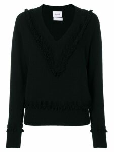 Barrie Romantic Timeless cashmere V neck pullover - Black