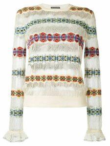 Alexander McQueen jacquard jumper - Multicolour
