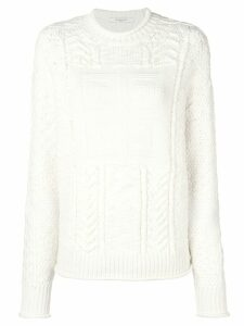 Givenchy logo knitted jumper - White