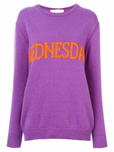 Alberta Ferretti Wednesday intarsia jumper - Purple