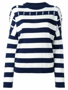 Jil Sander striped round neck jumper - Blue