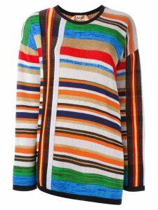 Nº21 open back striped pullover - Multicolour