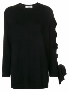 Valentino lace-up sleeve jumper - Black