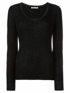 T By Alexander Wang scoop neck jumper - Black