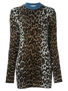 Stella McCartney cheetah crew neck jumper - Brown