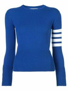 Thom Browne cashmere classic crewneck pullover - Blue