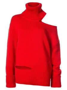 Monse one shoulder knit jumper - Red