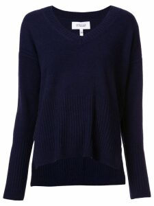 Derek Lam 10 Crosby Wooster V-Neck Sweater - Blue
